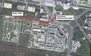 Схема проезда в Парковый комплекс