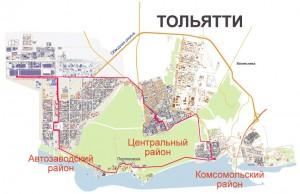схема турмаршрута - карта