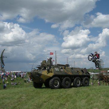 Прыжок на мотоцикле Михаила Грязнова