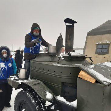 Волонтеры Победы на Рождественских маневрах 2021 года